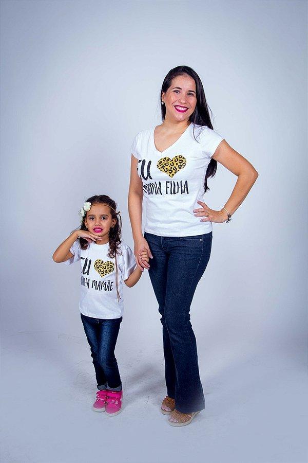 MÃE E FILHA > Kit 02 Camisetas eu Amo minha Filha [Coleção Tal Mãe Tal Filha]
