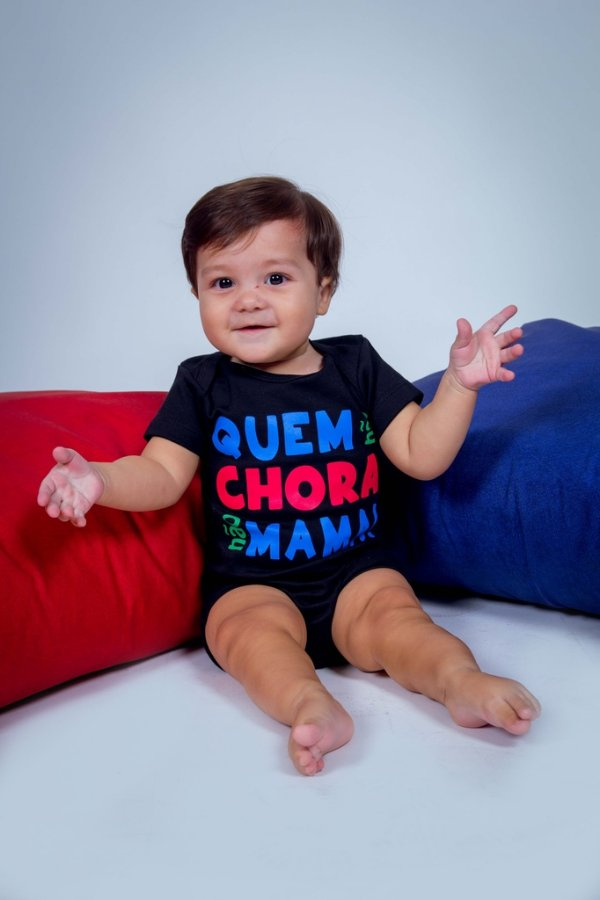 Body Infantil Quem Não Chora Não Mama