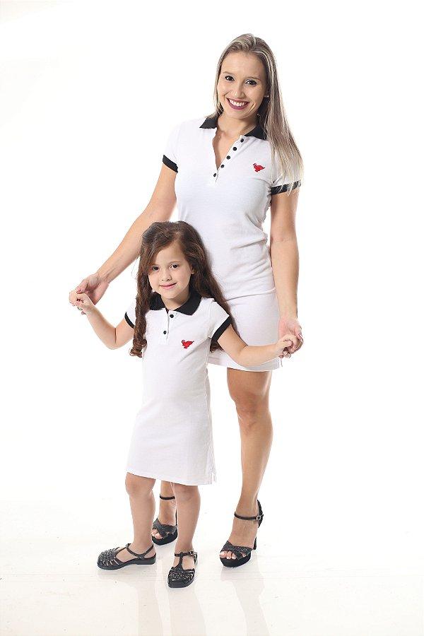MÃE E FILHA > Kit 02 Vestidos Brancos Ano Novo [Coleção Tal Mãe Tal Filha]