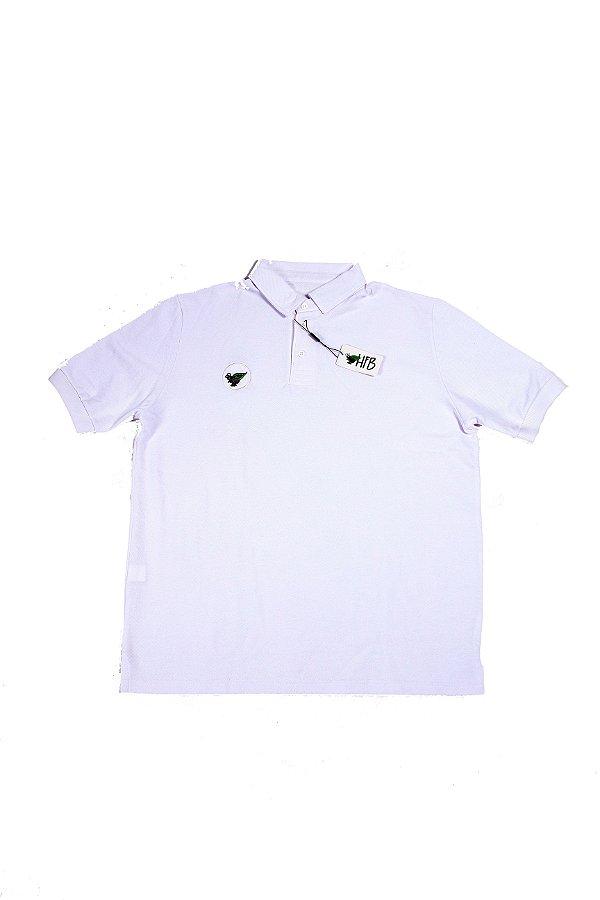 Camisa Polo Branca Logo Destacado