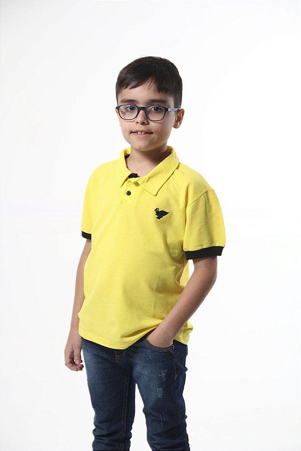 Camisa Polo Infantil Masculina Amarela