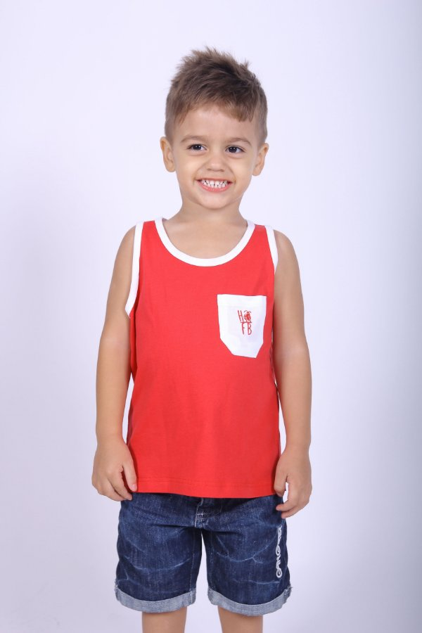 Regata Infantil Vermelha
