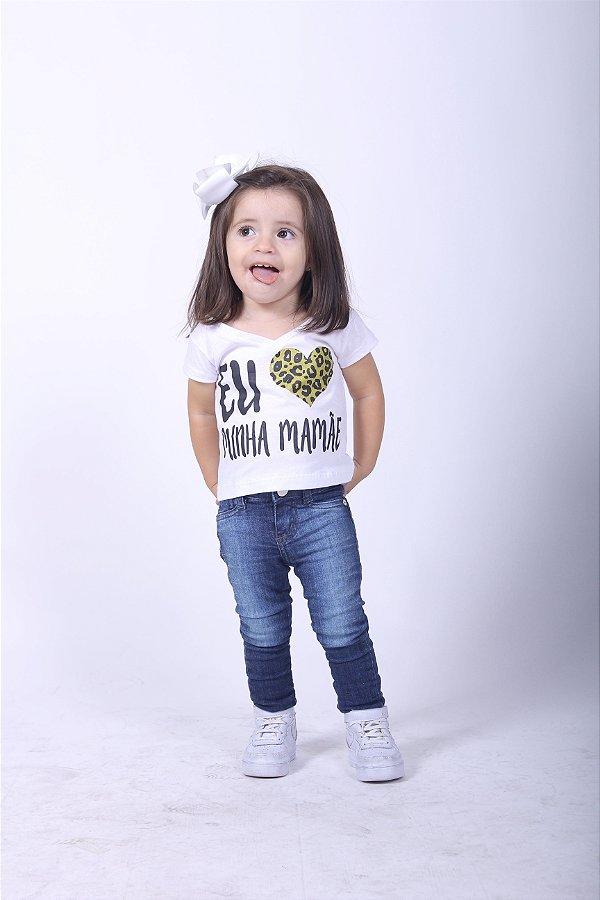 Camiseta Infantil Eu Amo a Mamãe