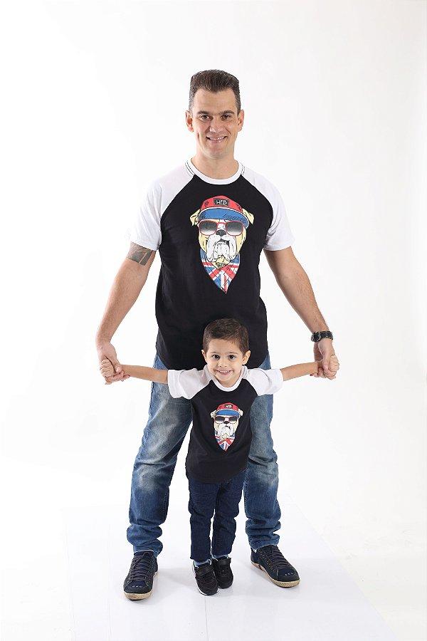 PAI E FILHO > Kit 02 Camisetas com Estampa de Cachorro [Coleção Tal Pai Tal Filho]