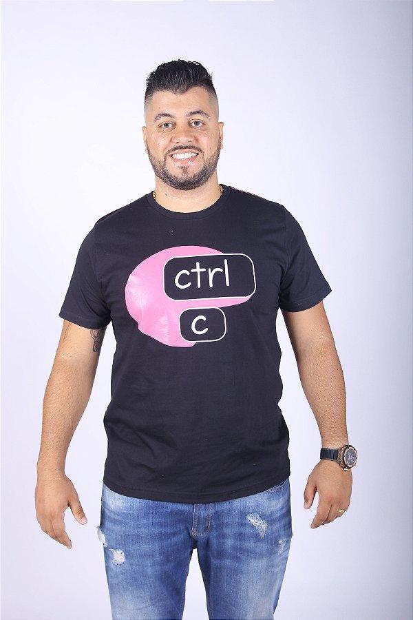 Camiseta CTRL-C Rosa Masculina
