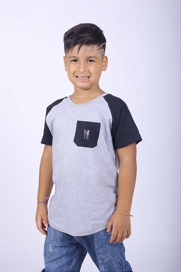 Camiseta Raglan Long Infantil Masculina