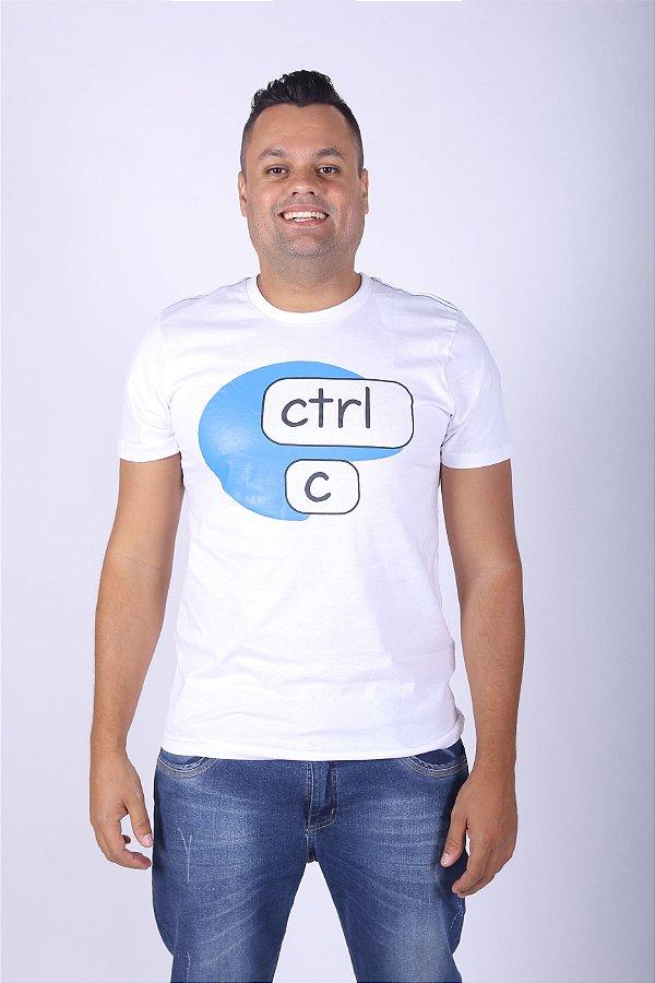 Camiseta Branca Ctrl-C