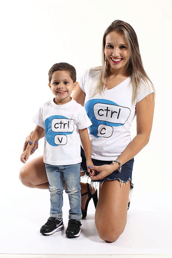 MÃE E FILHO > Kit Camisetas CTRL-C e CTRL-V [Coleção Tal Mãe Tal Filho]