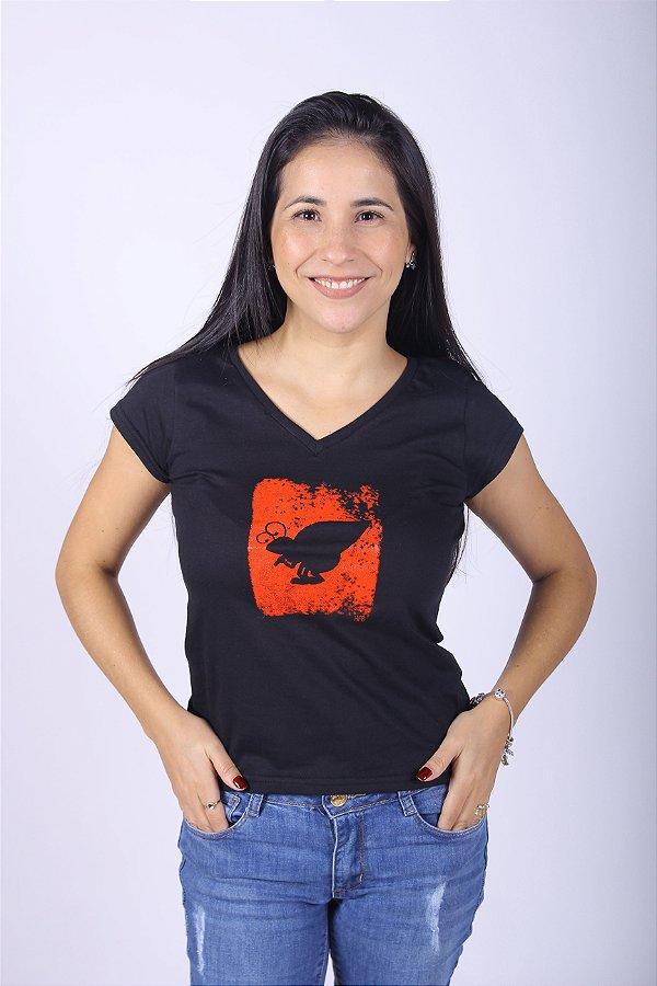 Camiseta Feminina Preta
