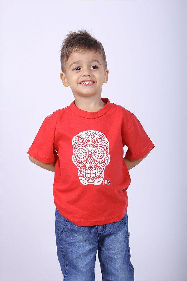Camiseta Infantil Vermelha