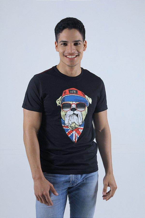 Camiseta Preta Cachorro
