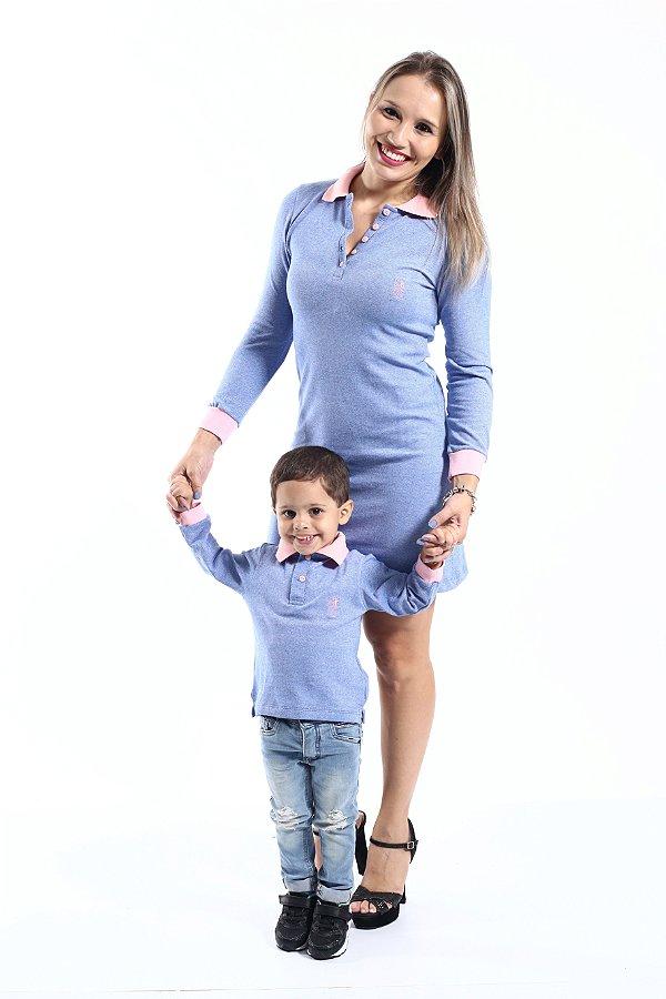 MÃE E FILHO > Kit 02 Peças Vestido + Camisa Polo [Coleção Tal Mãe Tal Filho]