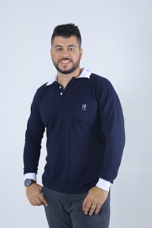 919f862a3 Camisa Polo Masculina Manga Longa - Heitor Fashion Brazil - Marca ...