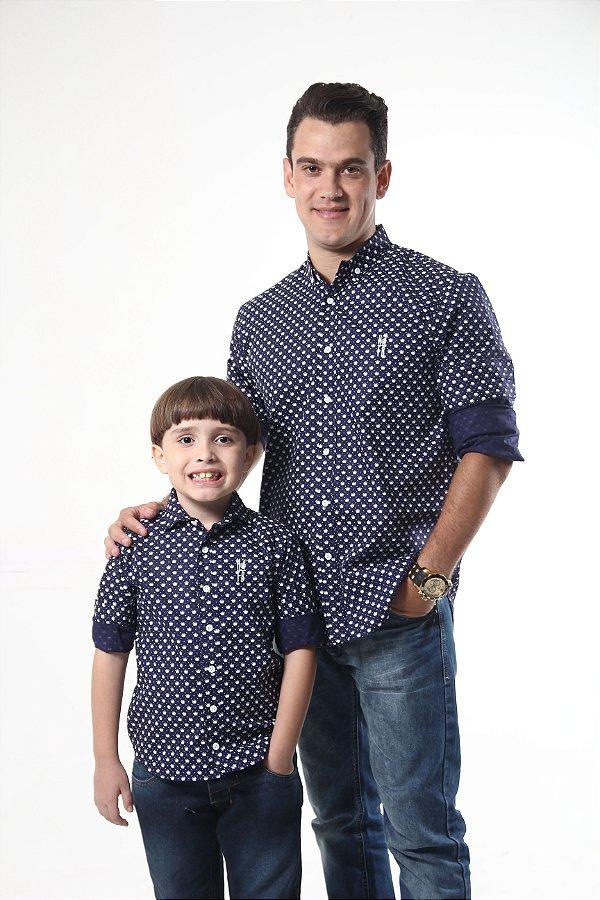 PAI E FILHO > Camisas Social Principe Azul [Coleção Tal Pai Tal Filho]