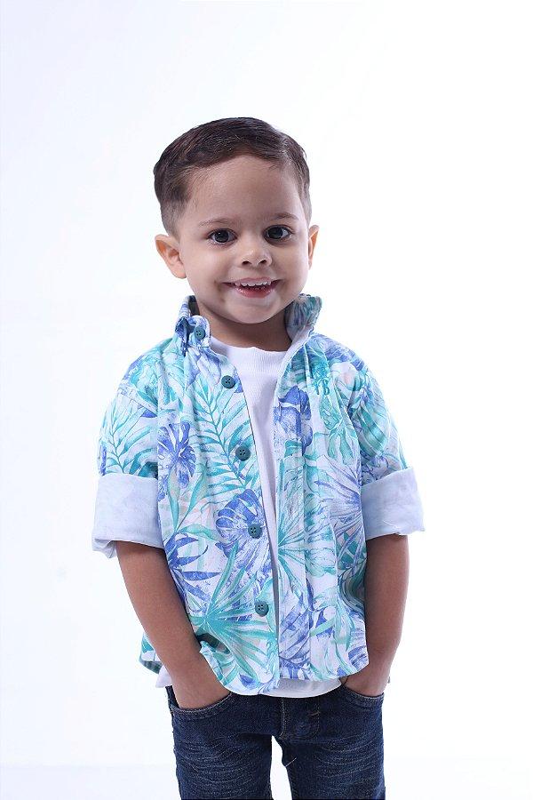 Camisa Social Tropical Infantil