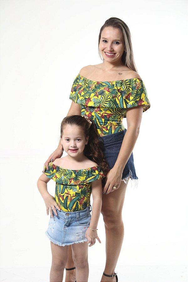 Mãe e Filha > Kit 02 Bodys Femininos Ciganinha [Coleção Tal Mãe Tal Filha]