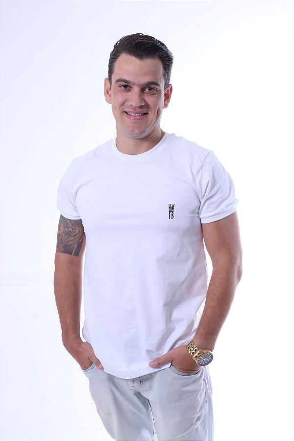 Camiseta Branca Malha Menegotti - Premium