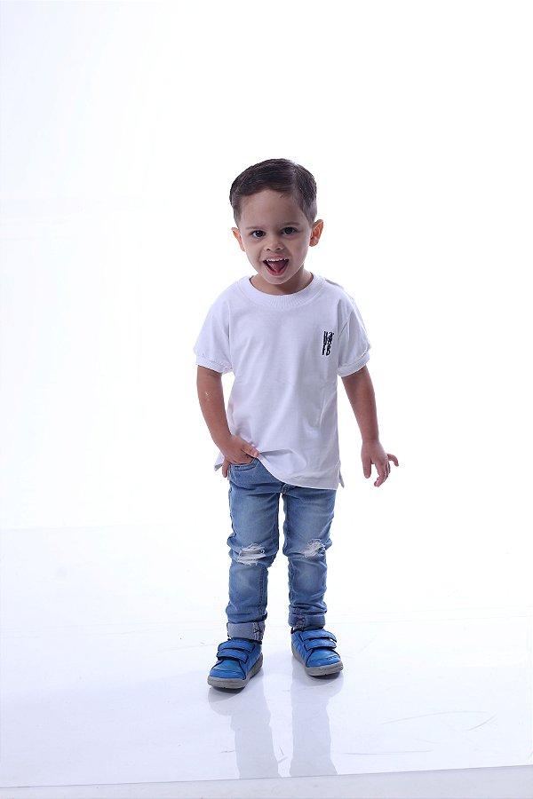 Camiseta Infantil Branca Menegotti Premium