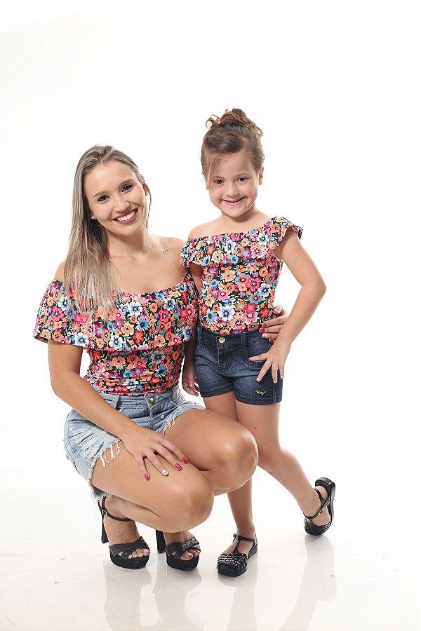 Mãe e Filha > Kit 02 Bodys Femininos Ciganinha Verão [Coleção Tal Mãe Tal Filha]