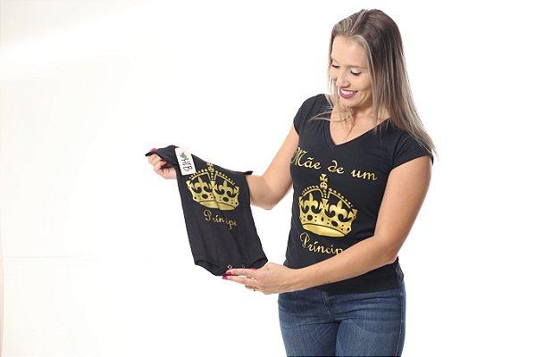 MÃE E FILHO > Kit 02 Peças - Camiseta e Body Pretos [Coleção Tal Mãe Tal Filho]