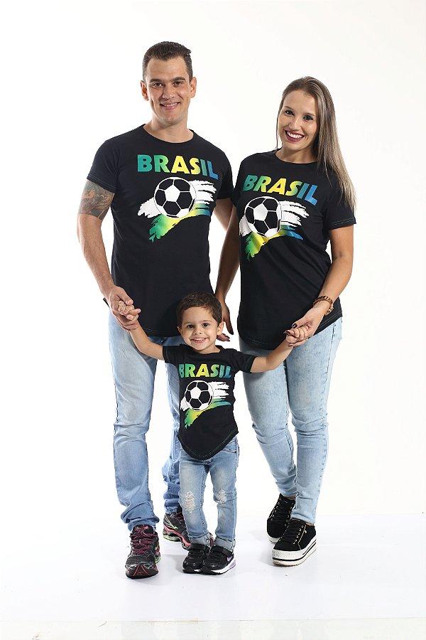 PAIS E FILHOS > Kit 3 peças Camisetas Long - Copa do Mundo [Coleção Família]