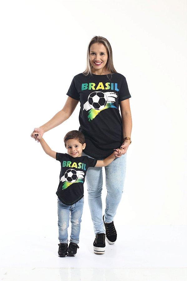 MÃE E FILHO > Kit 02 Camisetas Long Copa do Mundo [Coleção Tal Mãe Tal Filho]