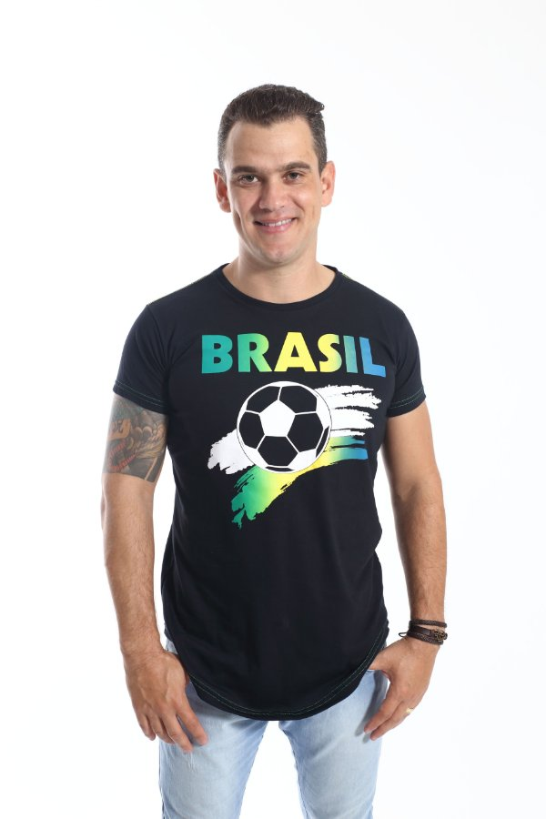 Camiseta Long Copa do Mundo Masculina