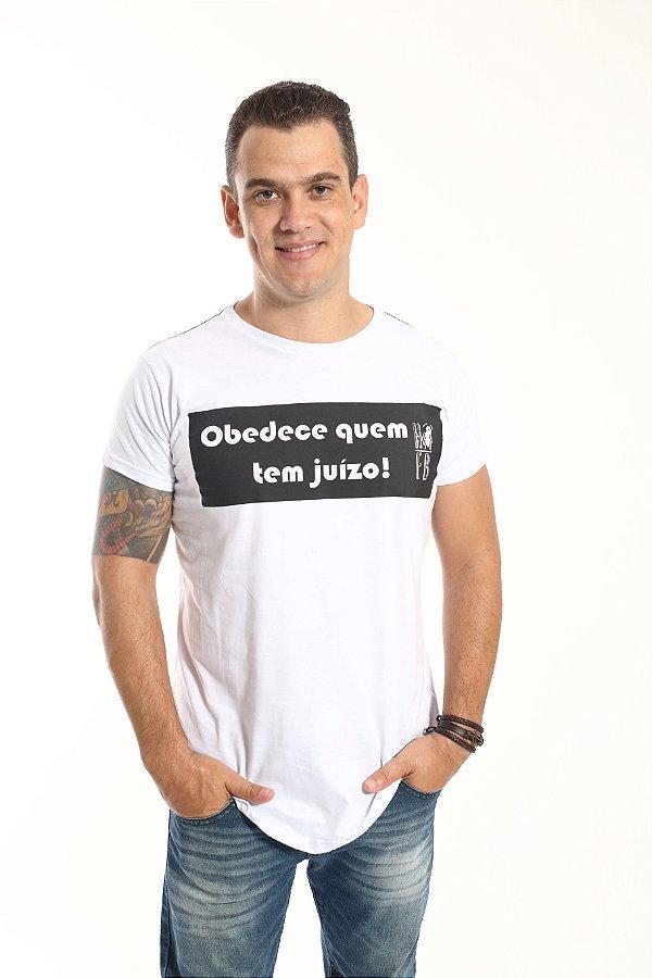 Camiseta Long Masculina Obedece Quem Tem Juízo