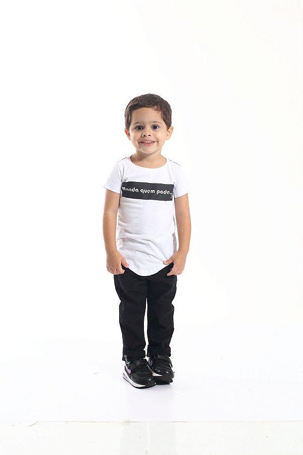 Camiseta Long Infantil Manda quem Pode