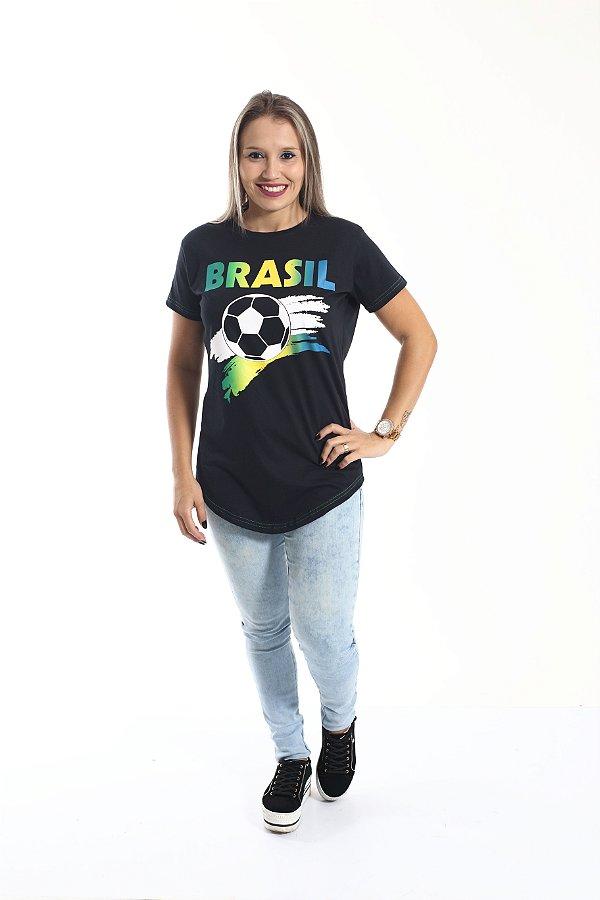 Camiseta Long Copa do Mundo Feminina
