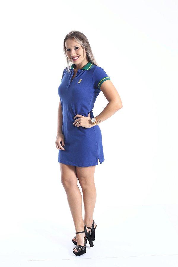 Vestido Polo Azul Copa do Mundo