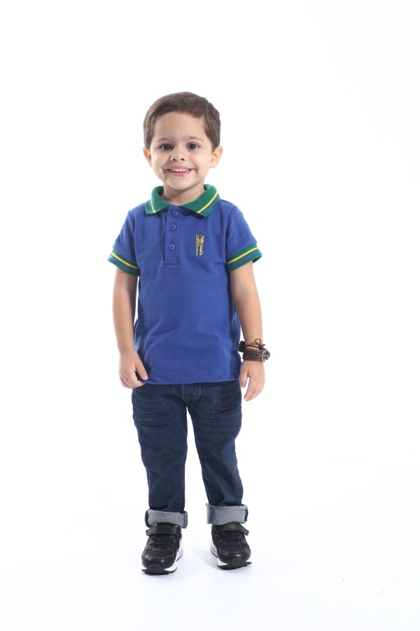 Camisa Polo Infantil Azul Royal