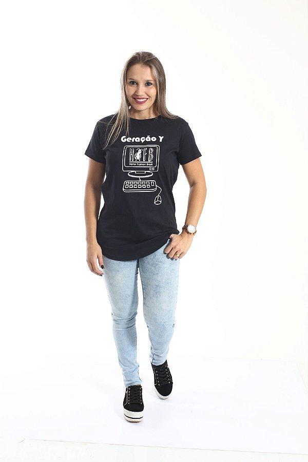 Camiseta Long Geração Y Feminina