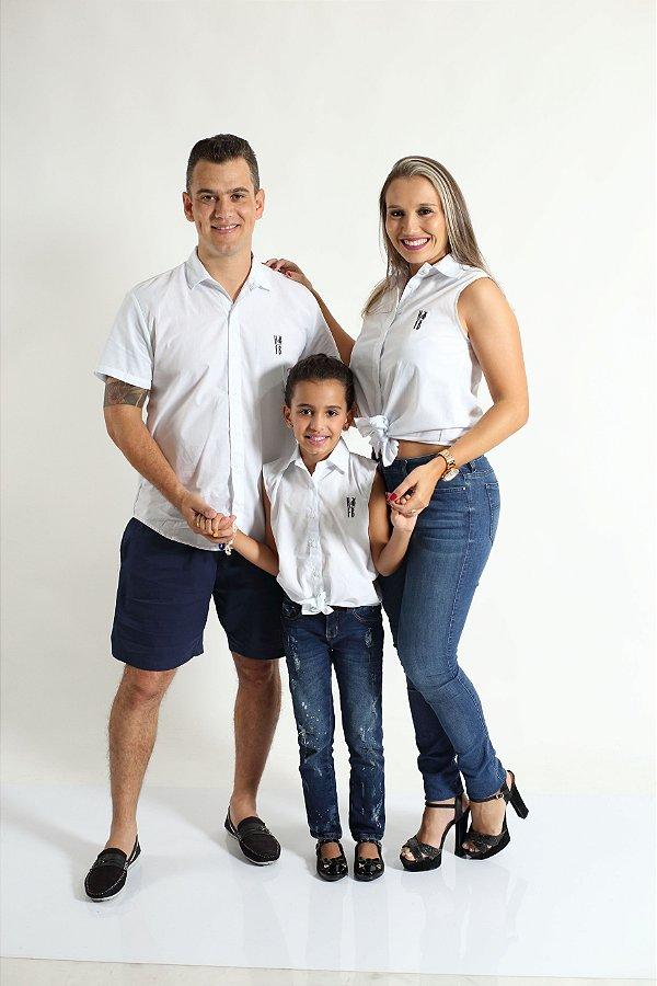 PAIS E FILHOS > Kit 3 peças Camisas Social Branca [Coleção Família]