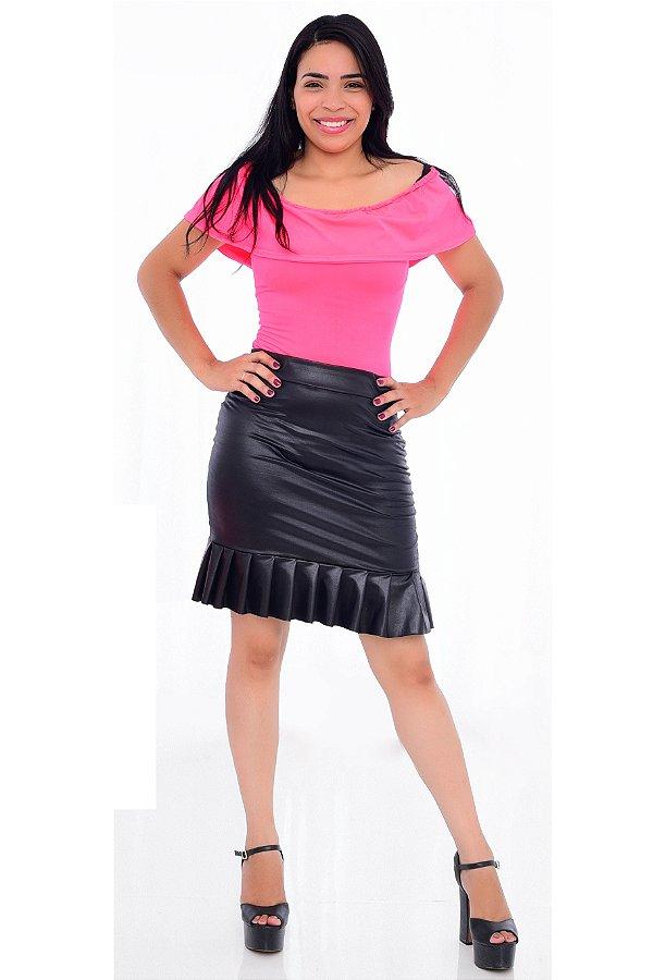 Body Feminino Adulto Neon Rosa