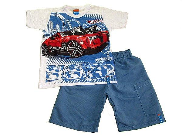 Conjunto Camiseta e Bermuda Hotwheels - Malwee