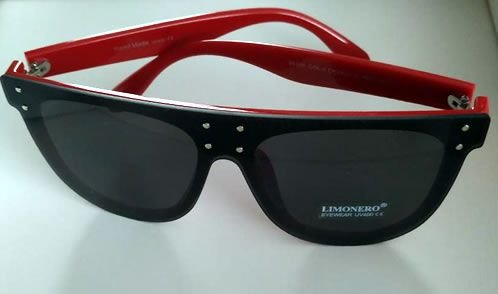 Oculos de Sol Oversized Vermelho