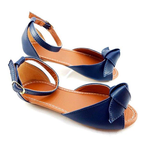 Salomé Estilo Pee Toe Azul Marinho em Napa - SP1364