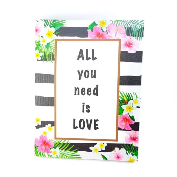 """Quadro """"Tudo que Você Precisa é Amor"""" - P0157"""