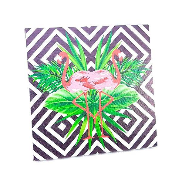 Quadro Geométrico Flamingo - P0158