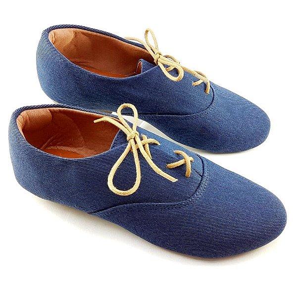 Oxford Tecido Azul Marinho Bico Redondo F03-198