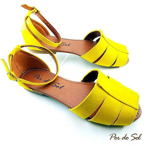 Salomé Aberta Amarela em Suede - C10-2051