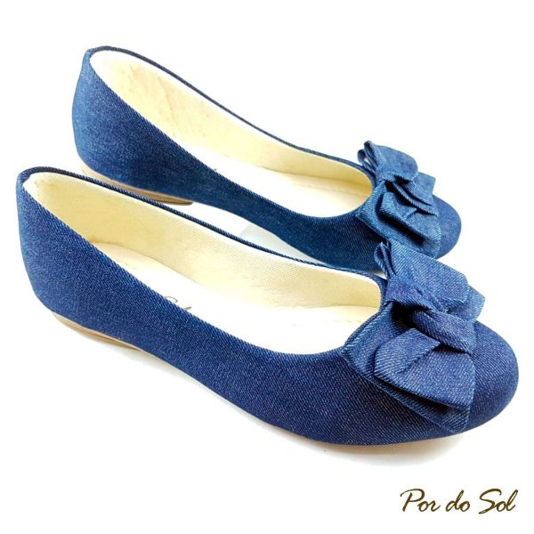 Sapatilha Jeans com Laço - SP2169