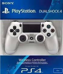 CONTROLE PRATA PS4