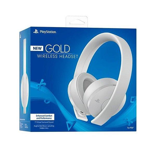 Playstation New Gold Wireless Headset BRANCO