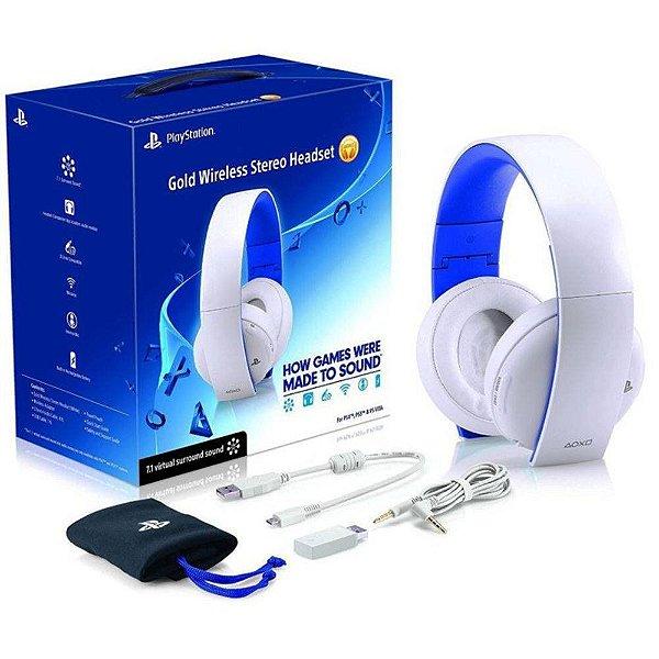 Playstation Gold Wireless Headset BRANCO