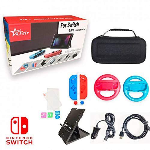 Kit de acessórios 9 em 1 para Nintendo Switch Feir FR-806
