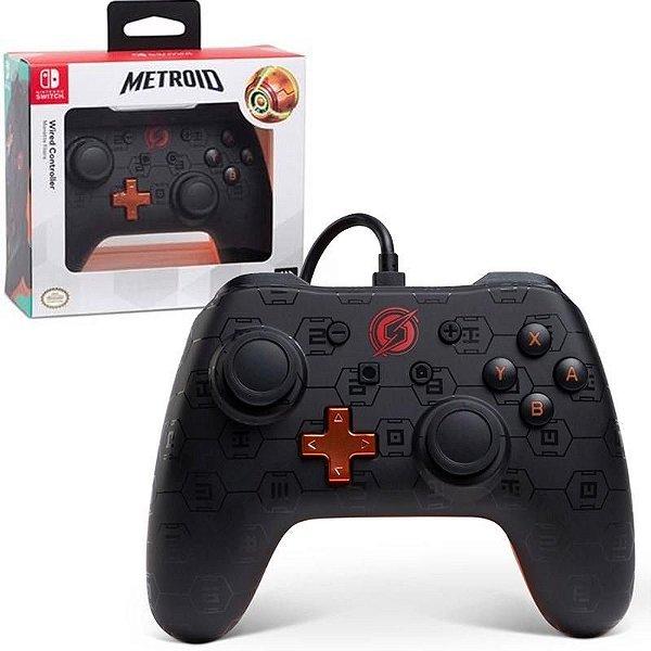 Controle Nintendo Switch Sem Fio Shadow Samus - Metroid