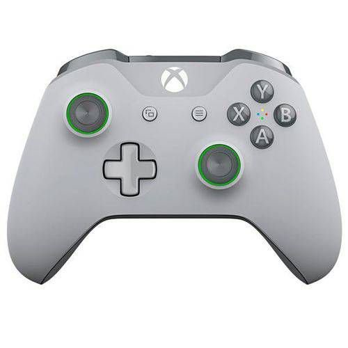 Controle Xbox One S Grooby Cinza E Verde