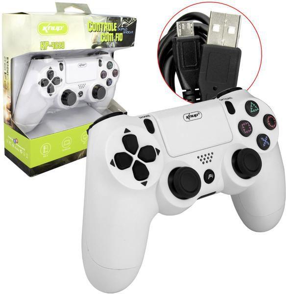 Controle Com Fio Ps4 Playstation 4 Dualshock Knup